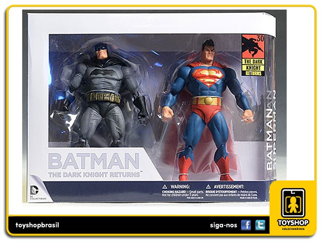 Batman The Dark Knight Returns Batman and Superman 30th Anniversary 2 Pack Dc Collectibles