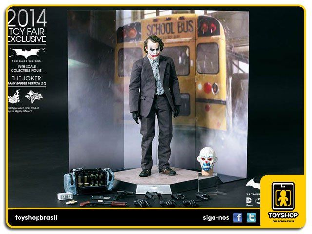 Batman The Dark Knight The Joker Bank Robben Version 2.0 Hot Toys