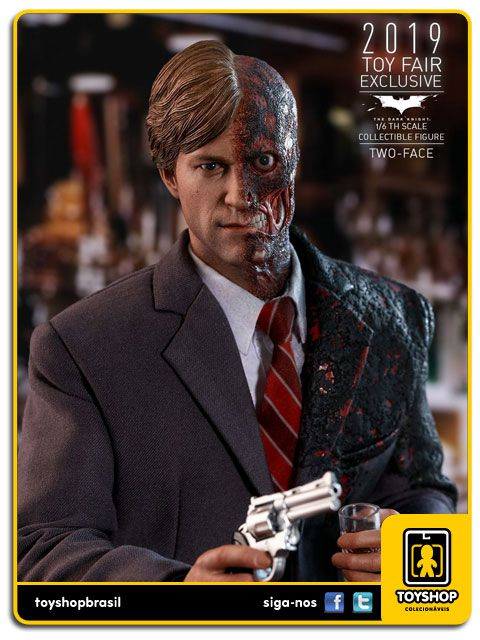 Batman The Dark Knight Two Face Harvey Dent Exclusivo Hot Toys