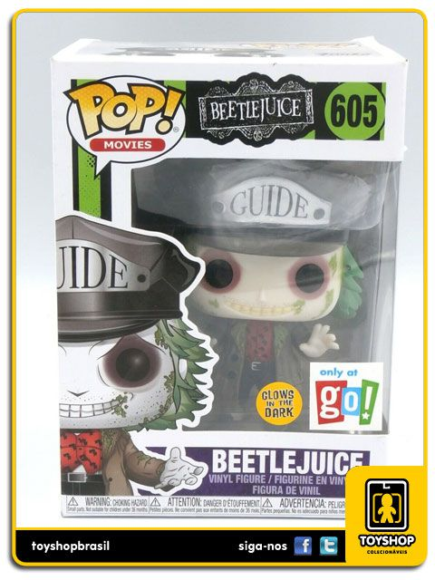 Beetlejuice Glows In The Dark 605 Pop Funko