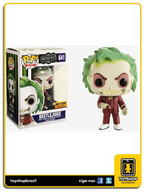 Beetlejuice Hot Topic Exclusivo 641 Pop Funko