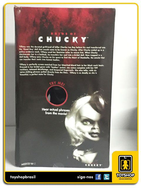 Bride of Chucky Talking Tiffany  38 Cm Com Sons  Mezco