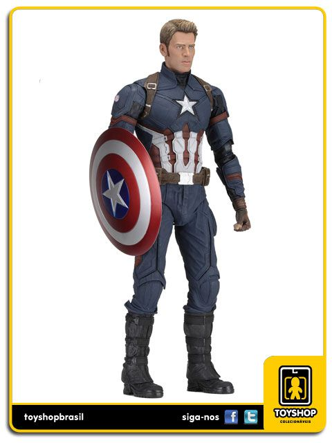 Captain America Civil War Captain America  1/4  Neca