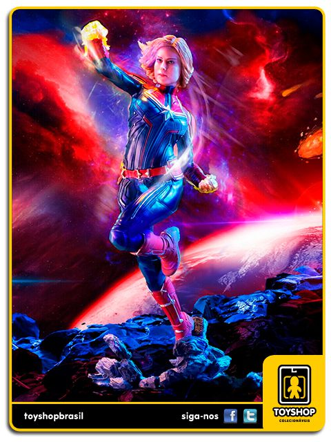 Captain Marvel The Movie Estátua Captain Marvel Art Scale 1/10 Iron Studios
