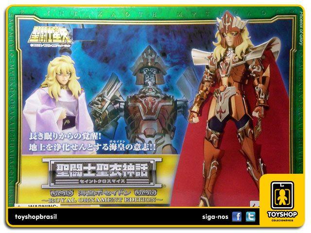 Cavaleiros Do Zodíaco Poseidon Royal Ornament Edition Bandai