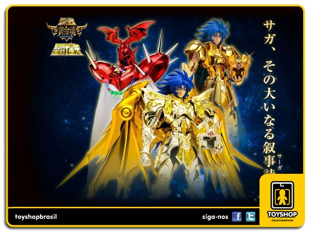 Cavaleiros do Zodíaco Premium Set Saga Saga Cloth Myth EX