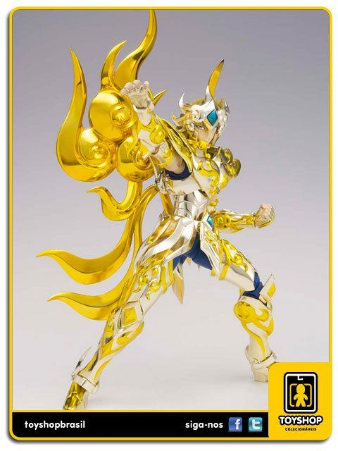 Cavaleiros do Zodíaco Soul of Gold  Aiolia de Leão EX  Cloth Myth