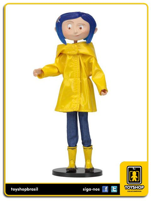 Coraline Rain Coat Bendy Fashion Doll