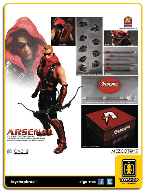 DC Comics  Arsenal Px Exclusivo  One 12  Mezco