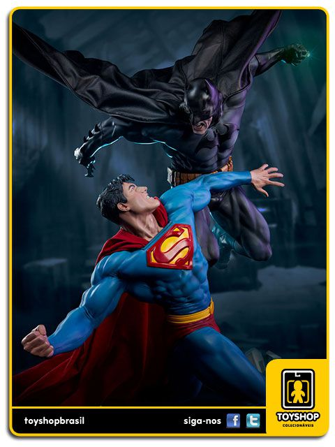 Dc Comics Estátua Batman Vs Superman Diorama Sideshow Collectibles