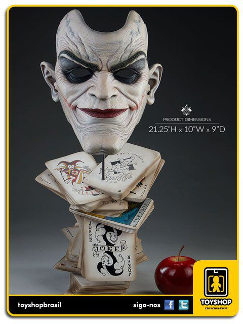 DC Comics The Joker Life Size Bust Sideshow Collectibles