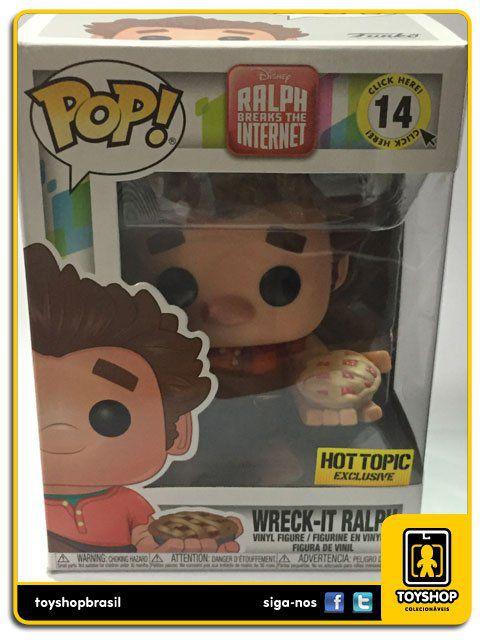 Disney Detona Ralph Wreck-it Ralph Hot Topic 14 Pop Funko
