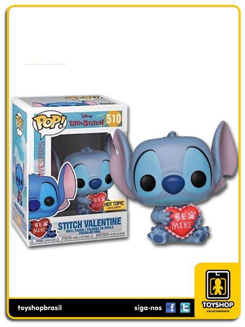 Disney Lilo & Stitch Stitch Valentine Exclusivo Hot Topic 510 Pop Funko
