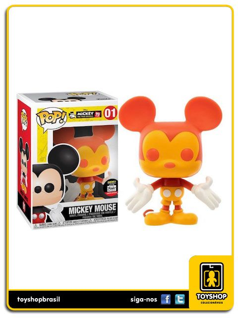 Disney Mickey 90th Mickey Mouse Orange & Red 01 Exclusivo Pop Funko