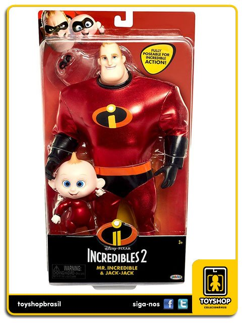 Disney Pixar Incredibles 2 Mr.Incredible & Jack-Jack Jakks Pacific