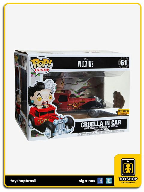 Disney Villains Cruella In Car Exclusive 61 Pop Funko