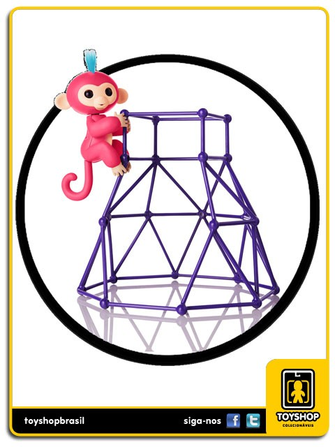 Fingerlings Macaquinho Aimee & Jungle Gym Playset Wowwee