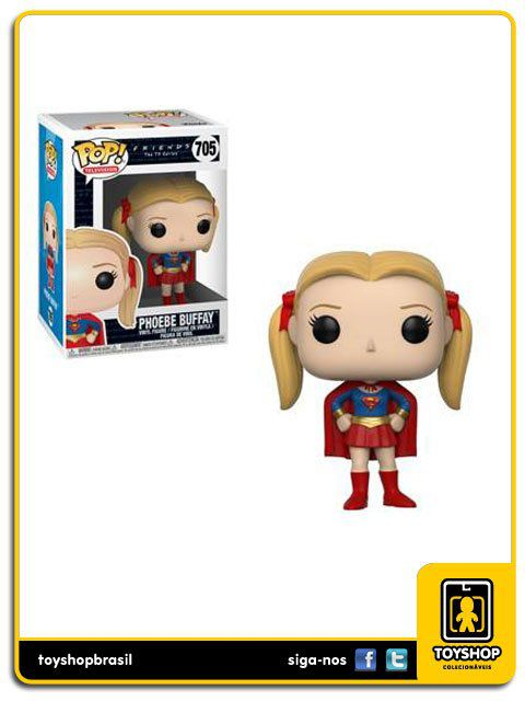 Friends the TV Series W2 Phoebe as Supergirl 705 Pop Funko