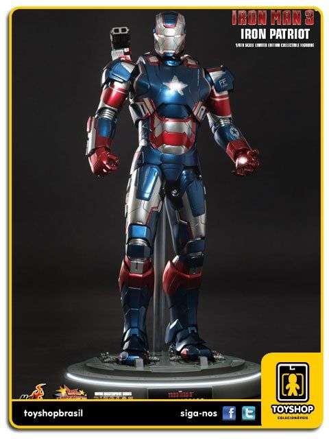 Iron Man 3: Iron Patriot Diecast 1/6 - Hot Toys