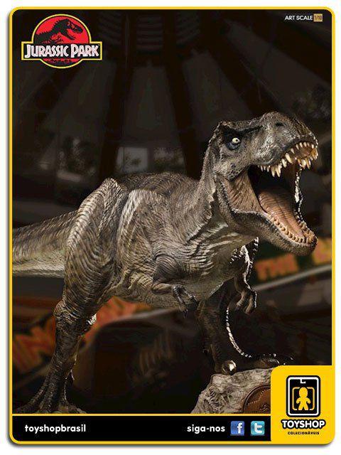 Jurassic Park Estátua T-Rex Art Scale 1/10 Iron Studios