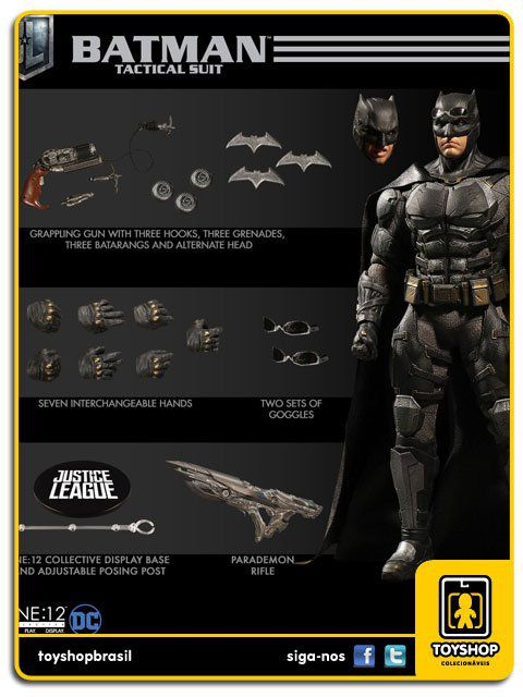 Justice League Tactical Suit Batman One 12 Mezco Toys