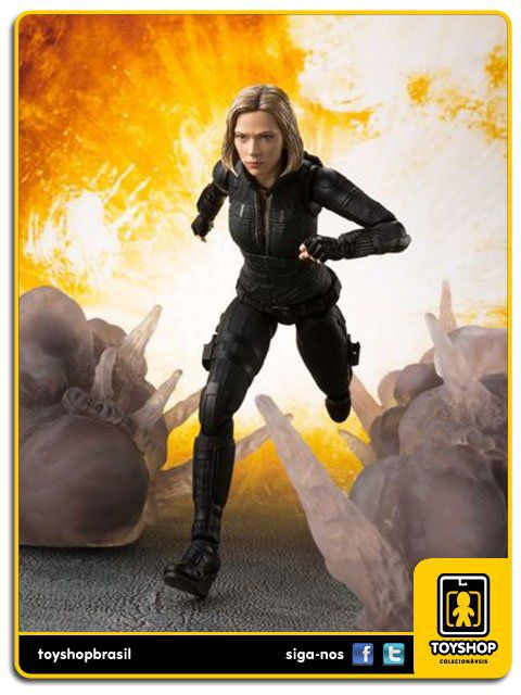 Marvel Avengers Infinity War S H Figuarts Black Widow and Explosion Effect  Bandai
