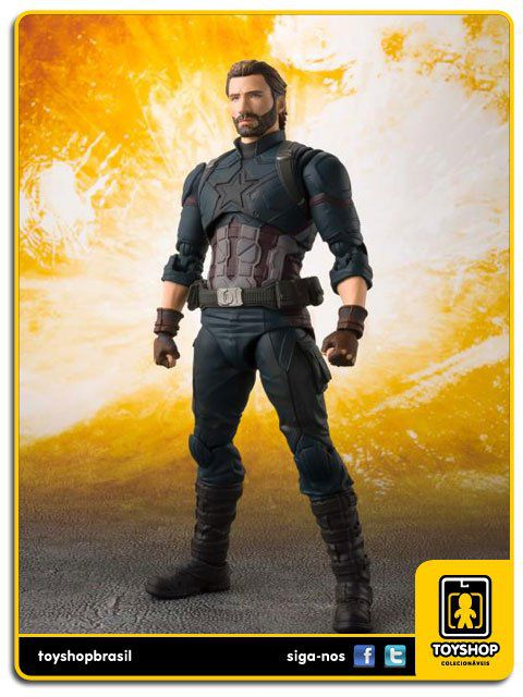 Marvel Avengers Infinity War S H Figuarts Captain America and Explosion Effect  Bandai
