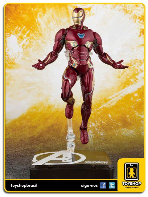 Marvel Avengers Infinity War S H Figuarts Iron Man Mark L and Tamashii Stage  Bandai