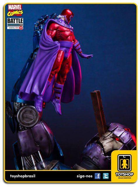 Marvel Comics Série 1 Magneto Vs Sentinel Diorama 1/6 Art Scale Iron Studios