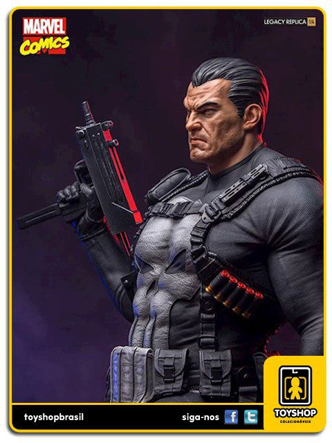 Marvel Comics Estátua The Punisher Legacy Replica 1/4 Iron Studios