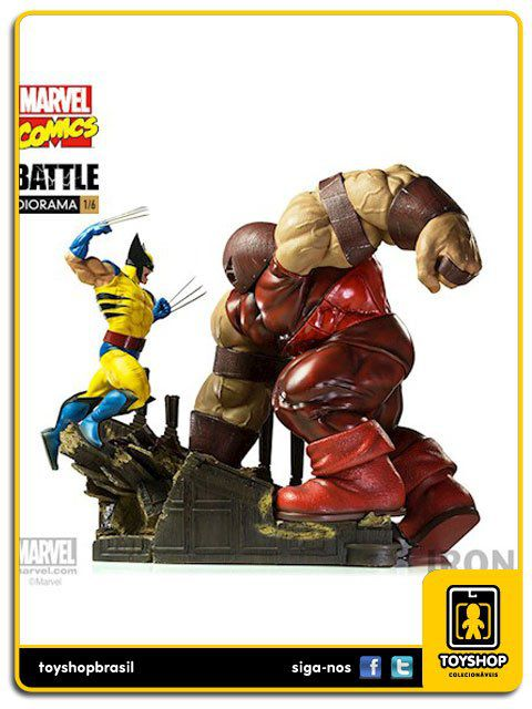 Marvel Comics Wolverine vs Juggernaut 1/6 Battle Diorama Iron Studios