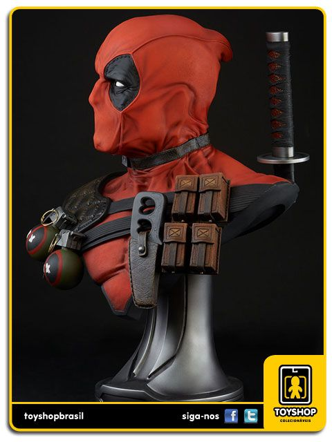 Marvel Deadpool Life-Size 1:1 Bust Prop Replica  Sideshow Collectibles