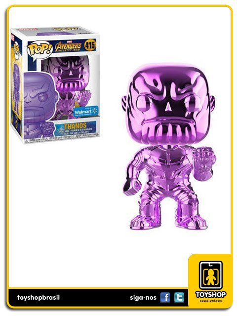 Marvel Infinity War Chrome Roxo Thanos 415 Pop Funko