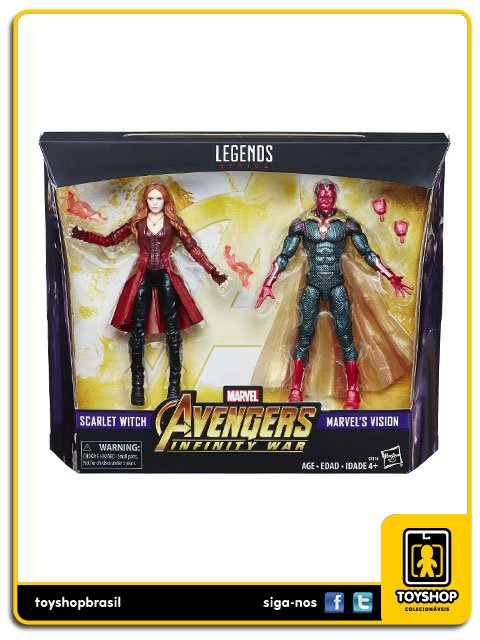 Marvel Legends Avengers Infinity War Scarlet Witch & Marvel' s Vision Hasbro