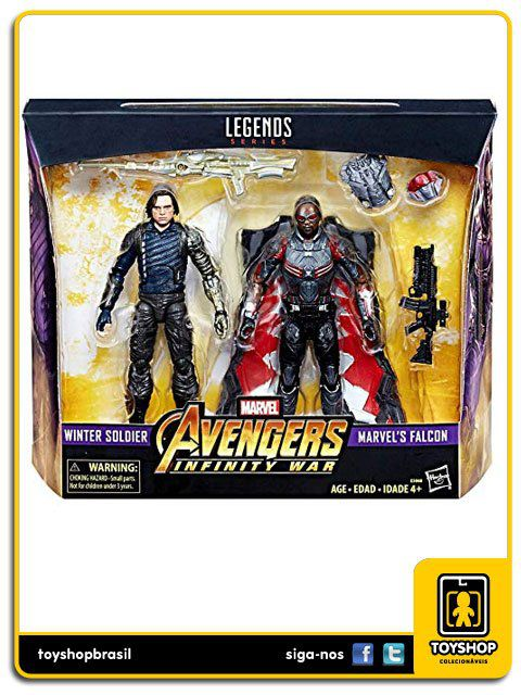 Marvel Legends Avengers Infinity War  Winter Soldier & Falcon Hasbro