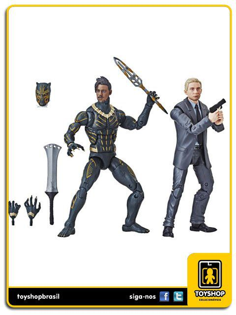 Marvel Legends Black Panther Everett Ross & Erik Killmonger Pack 2 Figuras  Hasbro