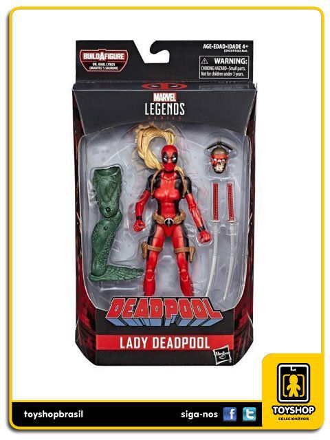 Marvel Legends Deadpool  Lady Deadpool  Sauron Baf Hasbro