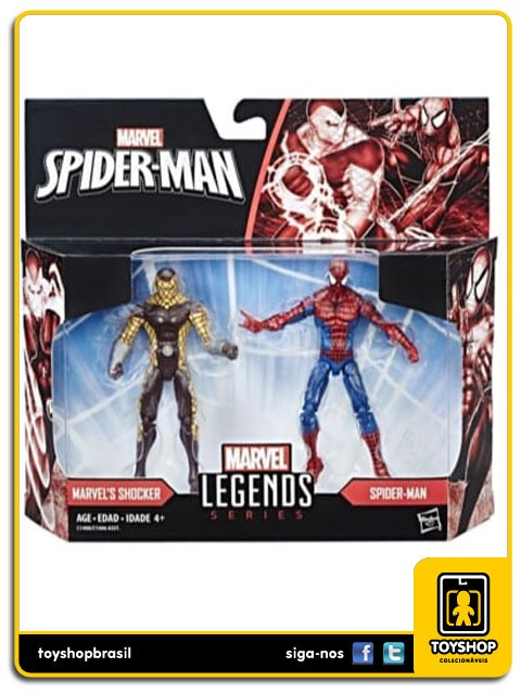 Marvel Legends Marvel´s Shocker & Spider-Man Pack 2 Figuras Hasbro