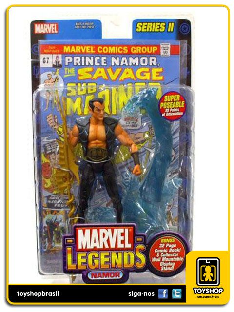 Marvel Legends Series II: Namor - Toy Biz