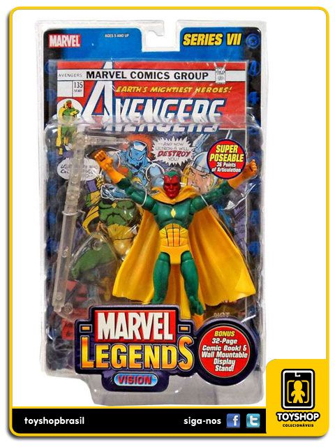 Marvel Legends Series VII: Vision - Toy Biz