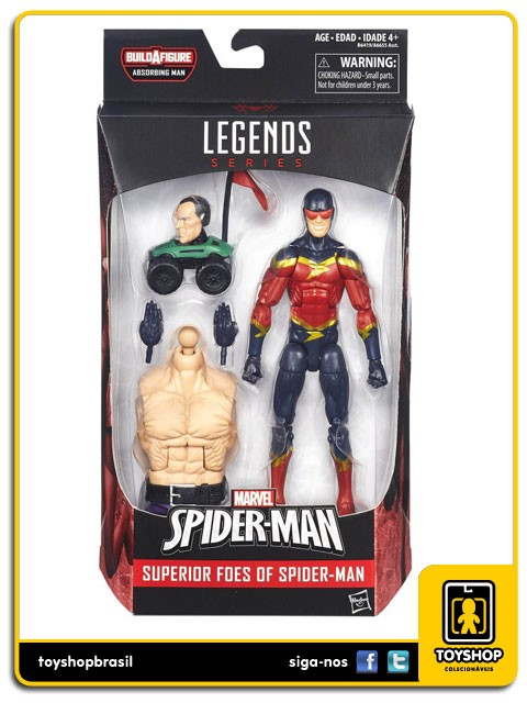 Marvel Legends Spider-Man Speed Demon Absorbing Man Baf Hasbro