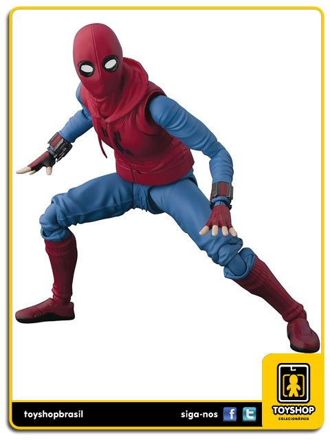 Marvel S H Figuarts Spider-man Homecoming (home made suit) with Wall Bandai
