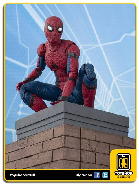 Marvel S H Figuarts Spider-man Homecoming with Wall   Bandai