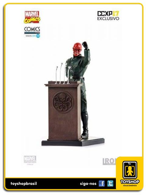 Marvel Série 4 Red Skull CCXP17  1/10 Art Scale Iron Studios