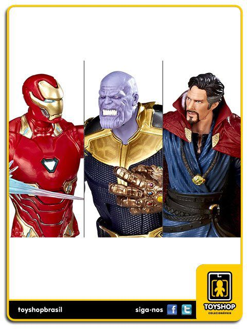 Marvel Studios 10th  Avengers Infinity War Iron Man Mark L / Thanos / Doctor Strange Hasbro