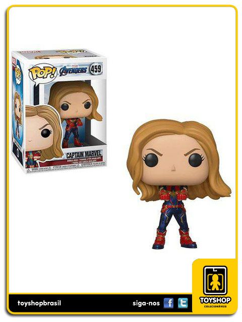 Marvel Vingadores Ultimato Captain Marvel  459 Pop Funko