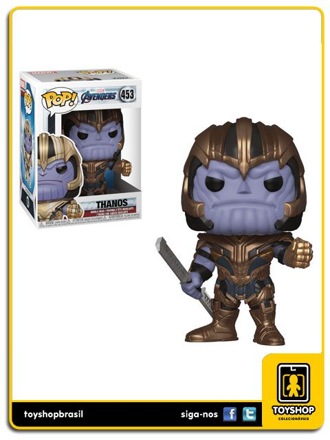 Marvel Vingadores Ultimato Thanos 453 Pop Funko