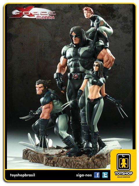Marvel X-Force Polystone Diorama  - Sideshow Collectibles