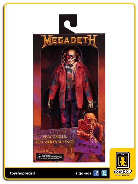 Megadeath Peace Sells but Whos Buying  8' Clothed  Neca