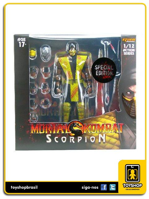 Mortal Kombat Scorpion Special Edition Blood 1/12 Storm Collectibles